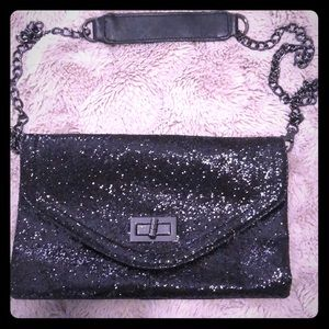Also Sparkly Envelope Clutch with detachable strap